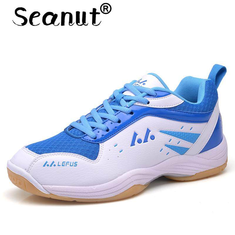 Seanut Men And Women Light Breathable Badminton Shoes for Men Lace-up Sport  Shoes Men and Women s Training Athletic Shoe Anti-Slippery Tennis Sneakers Free  ... 810682c1e3