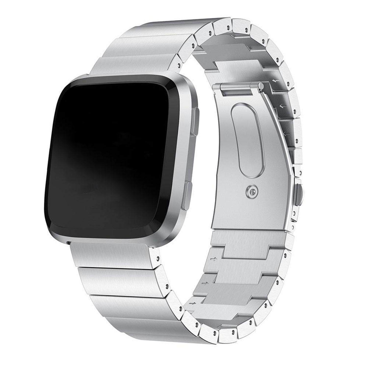 For Fitbit Versa Bracelet Wrist Band Smart Accessories Stainless Steel Replacement watch band Silver