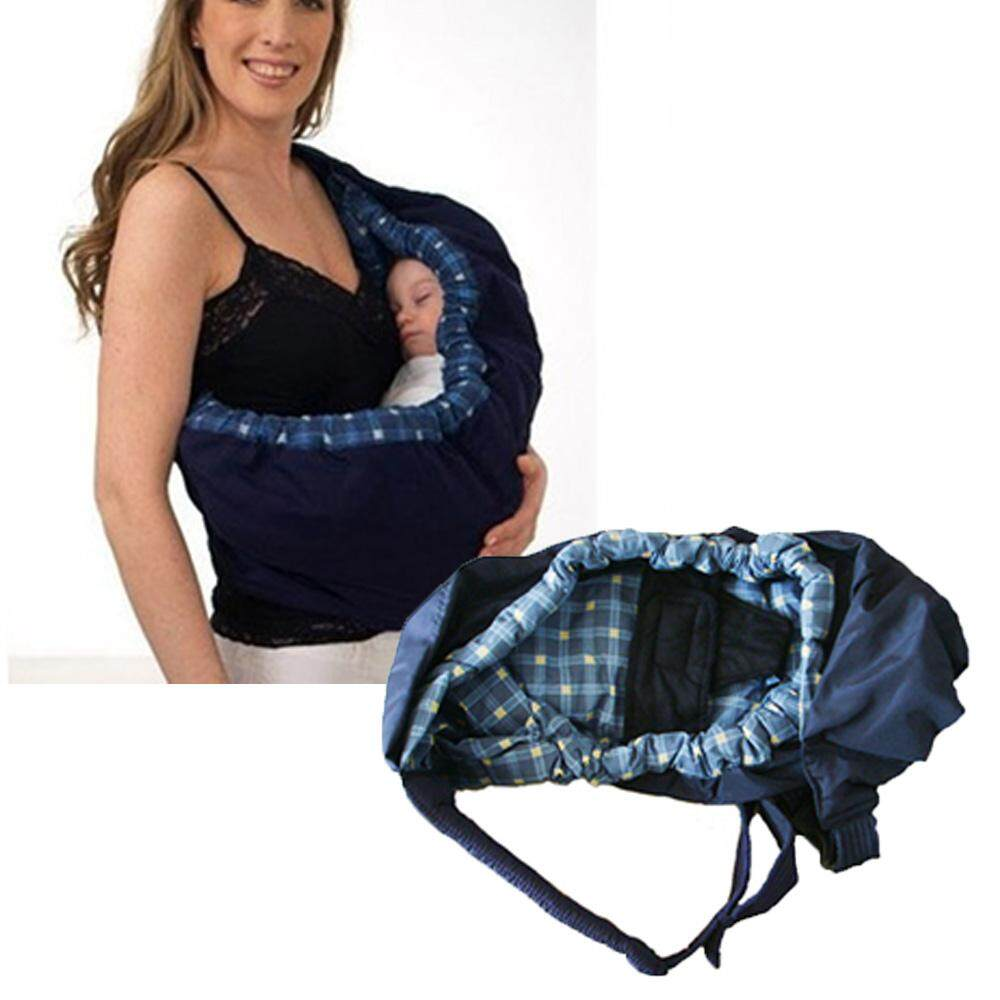 c2dbea40cbf New Born Baby Infant Adjustable Wrap Sling Carrier Backpack Pouch Baby  Nursing Care Product Blue Plaid