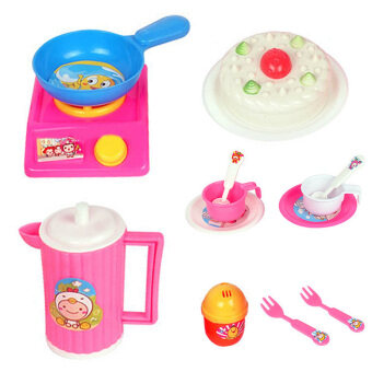 14pcs set baby play house children simulation kitchen for Kitchen set for 5 year old