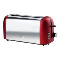 breville vtt611x polished stainless steel 4 slice toaster red
