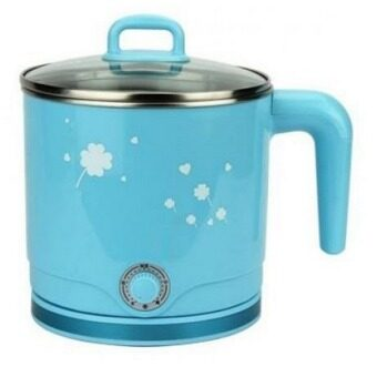 Malaysia Prices 1.8L Cordless Stainless Steel Multi-Fuction Electric Cooking Pot - Blue