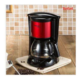 Malaysia Prices Tefal Coffee Maker Automatic Machine Surito CM151GKR Red Hot Pot 650mL 4~6Cups