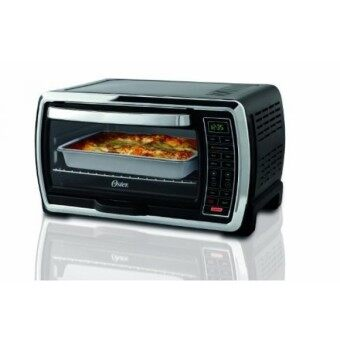 Malaysia Prices GPL/ Oster Large Capacity Countertop 6-Slice Digital Convection Toaster Oven, Black/Polished Stainless, TSSTTVMNDG/ship from USA