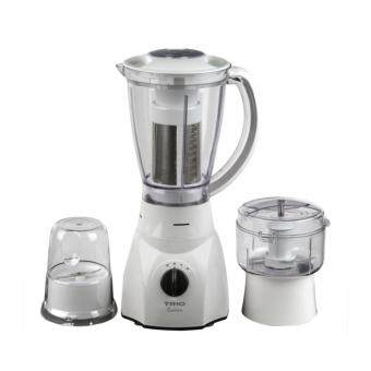 Malaysia Prices TRIO BLENDER TBS-303 300W 1.5L (White) with Chopper, Miller, and Fruit Filter