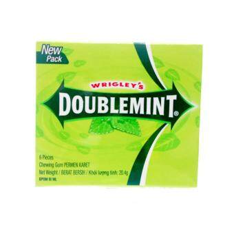 Malaysia Prices Wrigley's Doublemint Chewing Gum Permen Karet New Pack 6's 20.4g