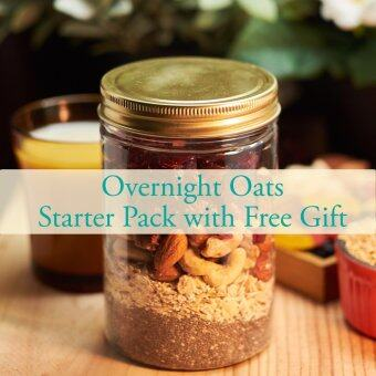 Malaysia Prices Overnight Oats Starter Packs + FREE GIFTS worth RM 78.00