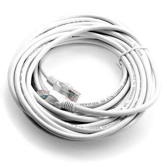10m RJ45 White Network Internet Cable LAN Cat5e Ethernet For Computer Router PC