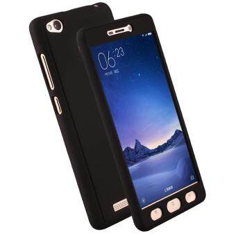 360 Degree Full Body Coverage Protection Case Hard PlasticShockproof Cover with Tempered Glass for Xiaomi Mi Redmi 3s 3 Pro