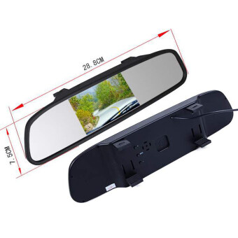 4 3 tft lcd monitor mirror car reverse rear view camera lazada malaysia. Black Bedroom Furniture Sets. Home Design Ideas