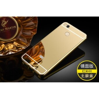 Aluminium Metal Mirror Bumper Case Cover for Xiaomi Redmi 4X