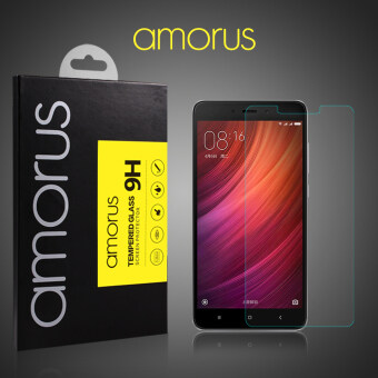 AMORUS Tempered Glass Screen Protector Film for Xiaomi Redmi Note 4