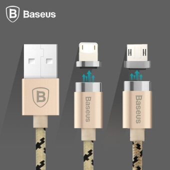 Baseus Magnetic Micro USB Cable Adapter Data Sync Charging Cable For Samsung HTC Xiaomi LG(Gold)