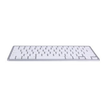 Bluetooth Wireless Keyboard Keypad Ultra-Slim For Android IOS PC Apple iPad Laptop (Silver)