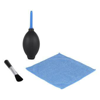 Camera Lens Screen Cleaning Dust Blower Brush Cleaning Cloth Kit For DSLR Cameras