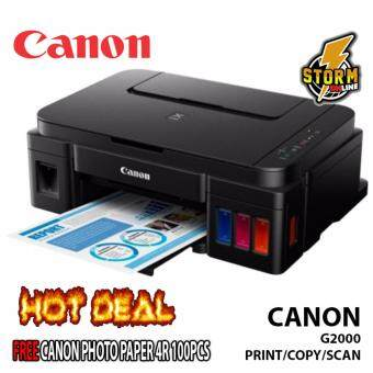 Canon PIXMA G2000 Refillable Ink Tank Printer (PRINT,COPY,SCAN)