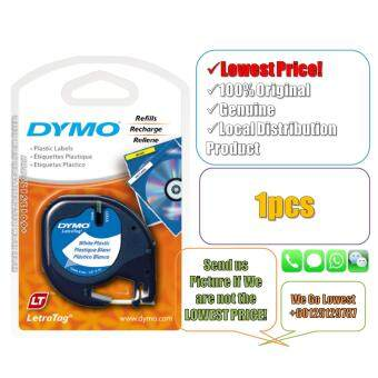 Dymo Letratag Label Maker Tape/Refill Plastic White 12mm x 4m(Original) Label Printer Refill