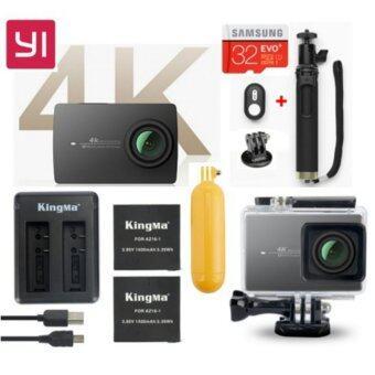 (Genuine) Xiaomi XiaoYi Yi 4K 12MP Sport Action Camera Night Black International Version Ultimate Bundle Pack - BLACK