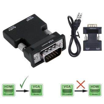 HDMI Male to VGA Female Output Audio TV AV HDTV Video CableConverter Adapter