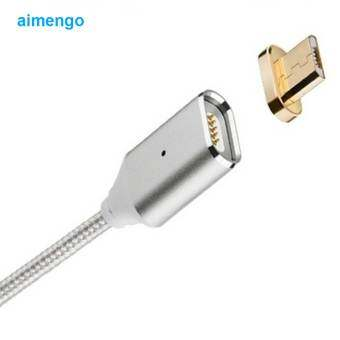 High Quality Magnetic Micro USB cables for Smartphone Samsung SonyData Charger Cable for HTC Xiaomi Huawei?(Silver)
