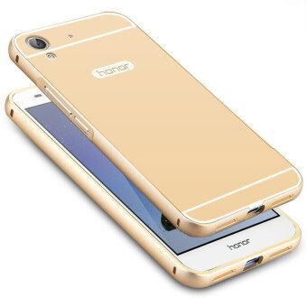Ultra Thin Aluminum Metal+ PC Back Cover Case for Huawei Honor 5A (Gold)