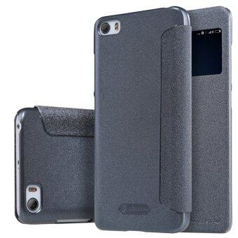 LongTeng Nillkin Fashion Leather Flip Shockproof Cover Case For For Xiaomi Mi 5 (Black)