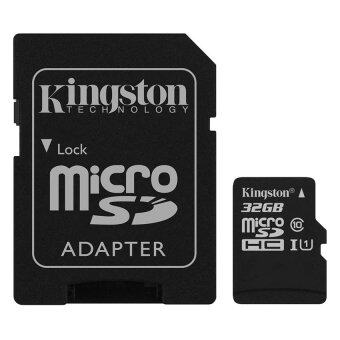 Kingston 32GB MicroSD Class 10 Memory Card with Adapter