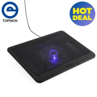 "Laptop Cooler Cooling Pad Base Big Fan USB Stand for 14"" or Below Notebook Black"