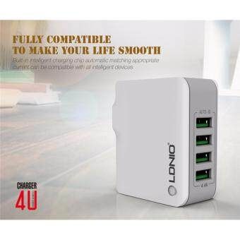 LDNIO Original A4403 4 USB Multi Ports 4.4A Fast Charger Plugs WallTravel Charger for iphone 5/6/7 ipad for samsung LG