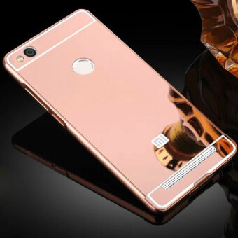 Luxury Aluminum Metal Hybrid Case Hard Mirror Protective Cover ForXiaomi Redmi 3 Pro 3s Red Mi 3s - Rose Gold