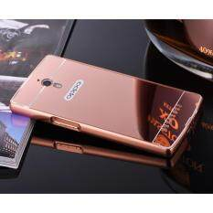 Luxury Anti-scratch Ultra thin Mirror Metal Aluminum Frame Case for Oppo Find 7(