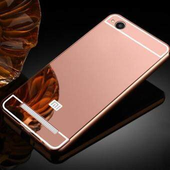 Luxury Plating Mirror Case Aluminum Metal Bumper + Acrylic HardBack Cover for Xiaomi Redmi 4A