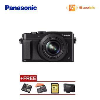 (Official) Panasonic Lumix DMC LX100 Digital Camera (Black) + 16GB+ Case + Extra Battery + Cleaning Kit