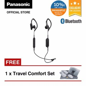 27f747a383d Panasonic RP-BTS10 Wings Wireless Bluetooth Sport Headphones (Black)