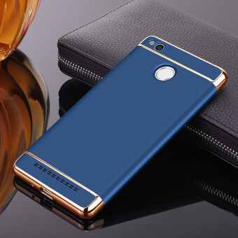 Plating Ultra Slim Phone Case 3 in 1 Matte Frosted PC Back Cover For Xiaomi Redmi 3 Pro 3s Red Mi 3s (Blue)