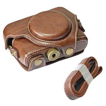 Portable PU Leather Camera Protector Case Protective Bag Cover withAdjustable Shoulder Strap for Sony DSC RX100M1 M2 M3 M4 M5 CamerasCoffee-color