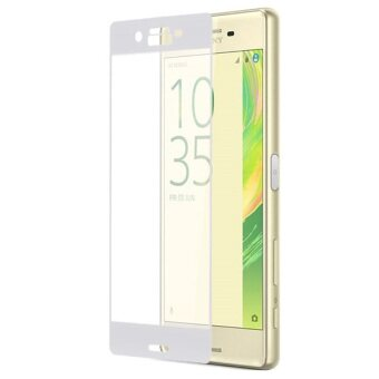 PREMIE Sony Xperia XA Ultra 3D Curved Full Screen Cover Tempered Glass Screen Protector (White)