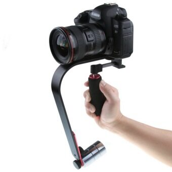 Slr DV mobile phone video camera handheld stabilizer is with LevelMeter with mobile phone bracket applicable 5D2 6D