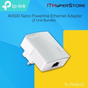 TP-LINK TL-PA4010 500Mbps Powerline Homeplug Adapters BUNDLE 2Units