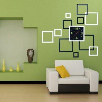 2015 baru 3d dekorasi rumah stiker dinding diy cermin jam