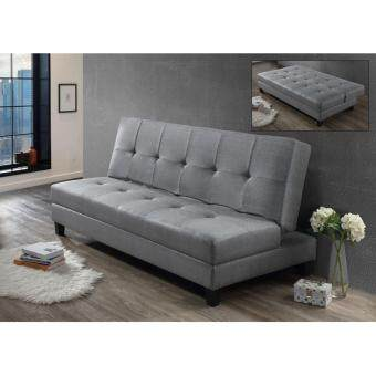 01 fabric grey sofa bed lazada malaysia for Sofa bed lazada