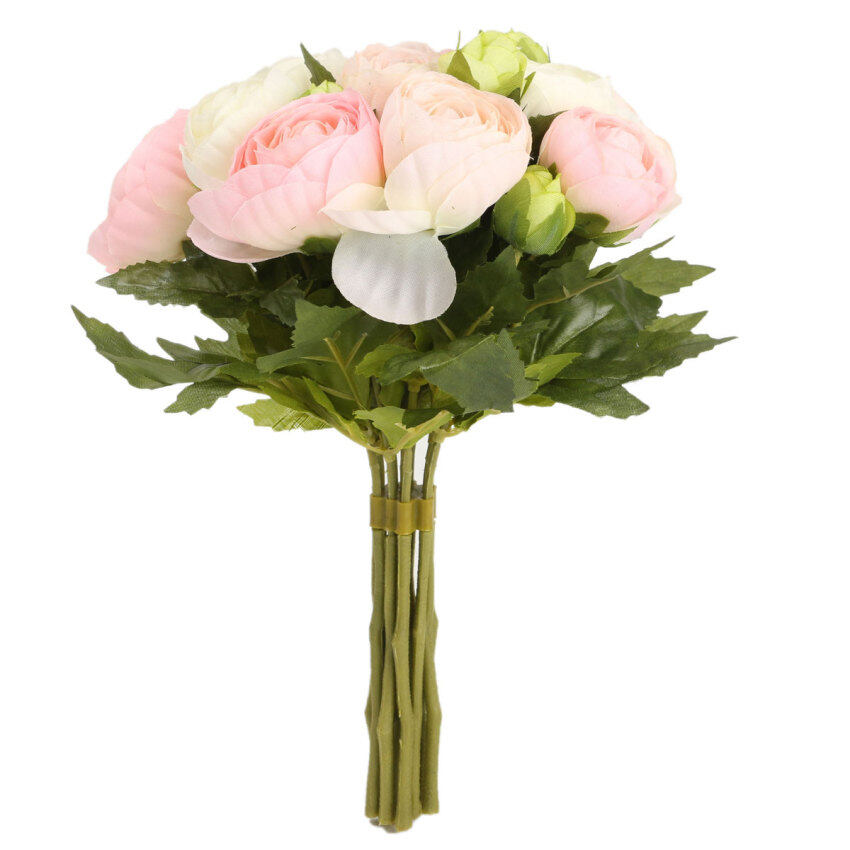 Aukey 1bunch artificial rose flowers home wedding decor for Artificial flowers for home decoration online