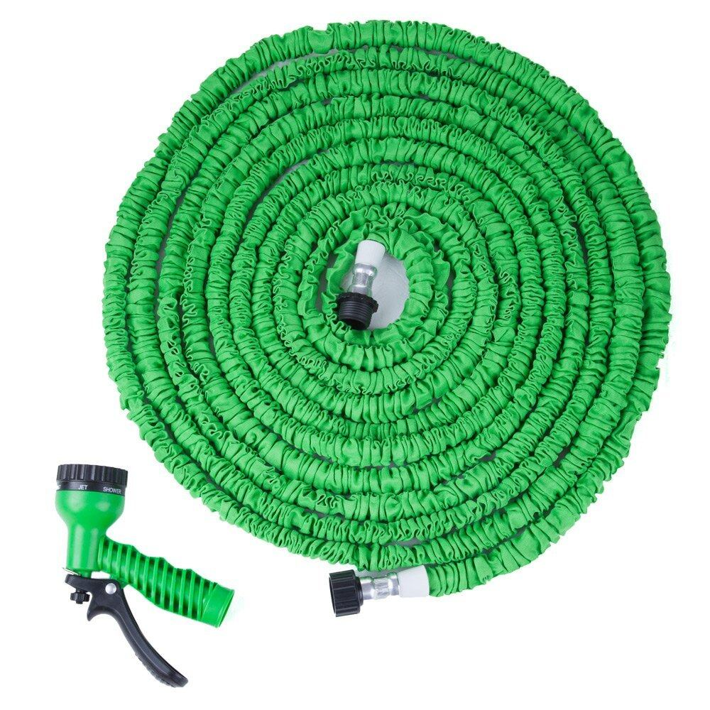 100FT Expandable Garden Hose Pipe with 7 in 1 Spray Gun Lazada