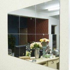 16pcs bathroom square removeable self adhesi ve mosaic tiles mirror wall s tickers home decor - Home Decor Malaysia