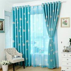 Home Decor Malaysia hnm home decor malaysia cushion 1pc Window Voile Curtain Cloud Pattern 100250cm Blue