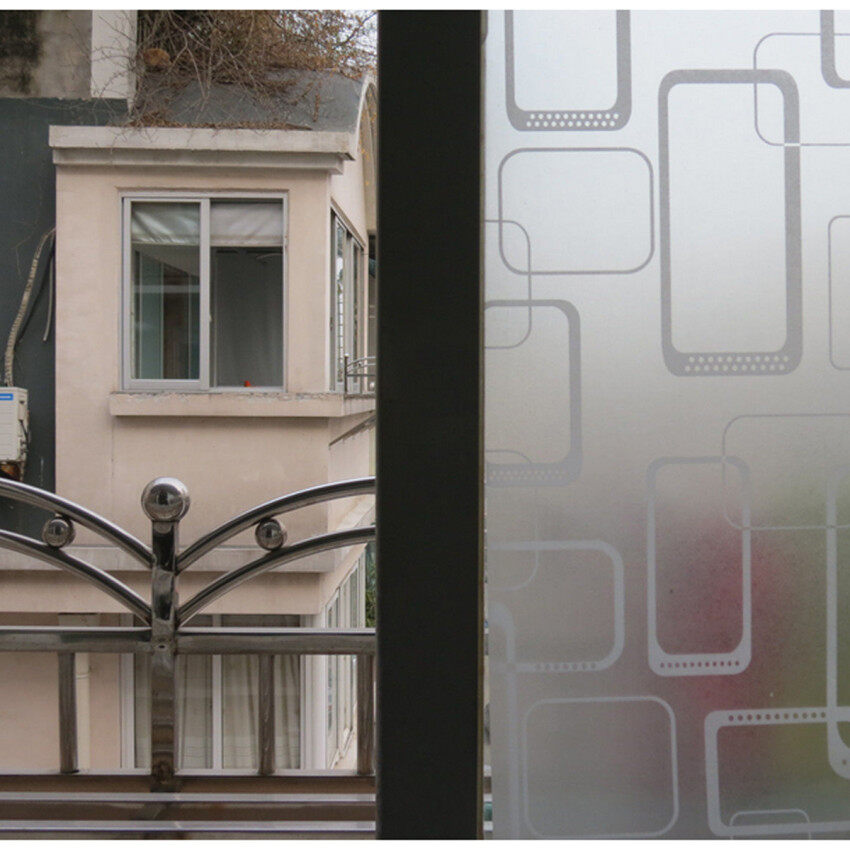 40x100cm waterproof pvc privacy frosted home window