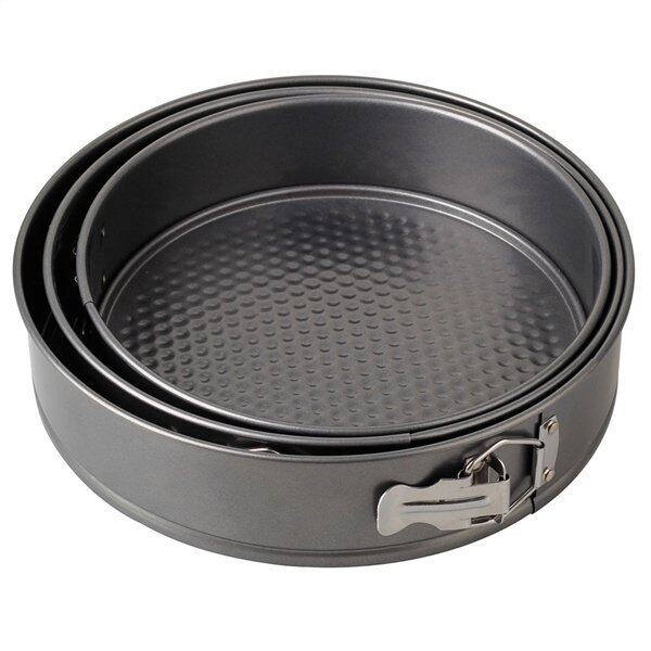 reusable round cake tin pan loose base bottom sizes