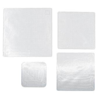 4pcs Silicone Fresh Food Grade Plastic Wrap (White)