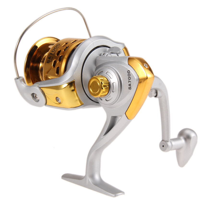 Fishing reels spinning 5 5 1 gear ratio metal gold for Sa fishing promo code free shipping