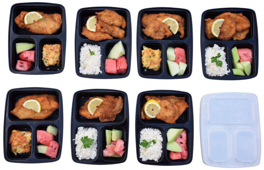 2layer microwave handle bento lunch box picnic food. Black Bedroom Furniture Sets. Home Design Ideas